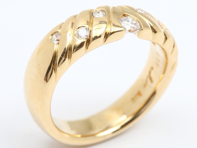【中古】【送料無料】ジュエリー ダイヤモンド リング 指輪 レディース K18YG(750) イエローゴールド x ダイヤモンド(0.35ct) | JEWELRY リング美品 ブランドオフ 美品 BRANDOFF ボーナス