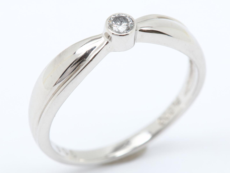 【中古】ジュエリー ダイヤモンド リング 指輪 レディース PT900 プラチナ x ダイヤモンド(0.06ct) | JEWELRY リング美品 ブランドオフ 美品 BRANDOFF ボーナス