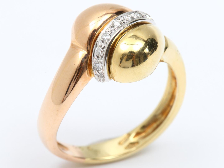 【中古】【送料無料】ジュエリー ダイヤモンド リング 指輪 レディース K18YG(750) イエローゴールド x K18PG ピンクゴールド x ダイヤモンド(0.06ct) | JEWELRY リング美品 ブランドオフ 美品 BRANDOFF ボーナス