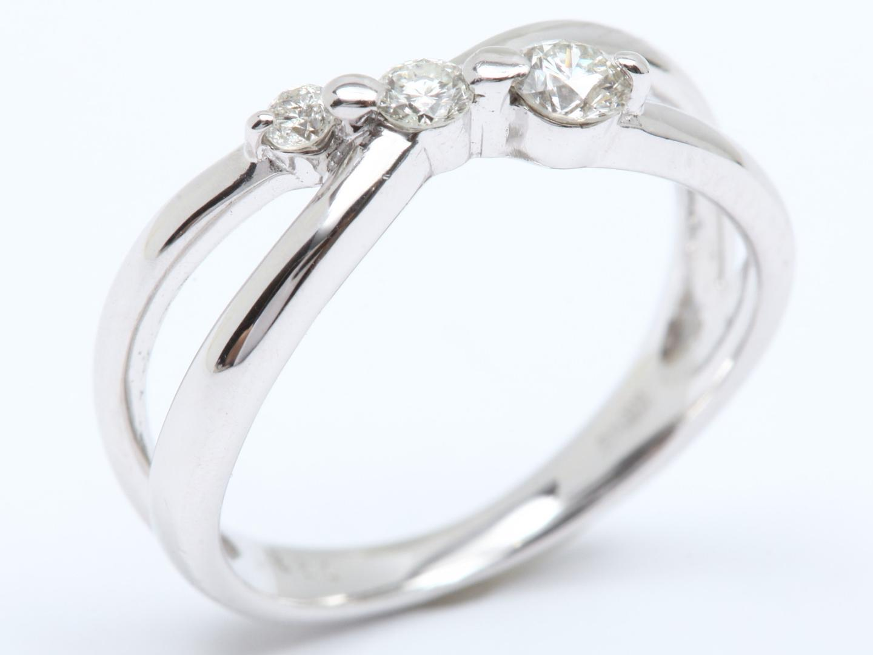 【中古】ジュエリー ダイヤモンド リング 指輪 レディース K10WG ホワイトゴールド x ダイヤモンド(0.22ct) | JEWELRY リング美品 ブランドオフ 美品 BRANDOFF ボーナス