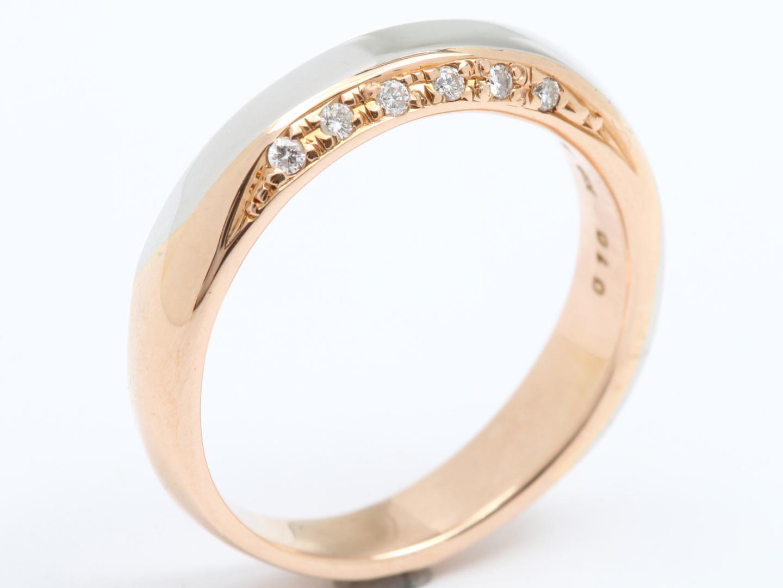 【中古】【送料無料】ジュエリー ダイヤモンド リング 指輪 レディース PT950 プラチナ x K18PG 750 ピンクゴールド x ダイヤモンド(0.10ct) | JEWELRY リング美品 ブランドオフ 美品 BRANDOFF ボーナス