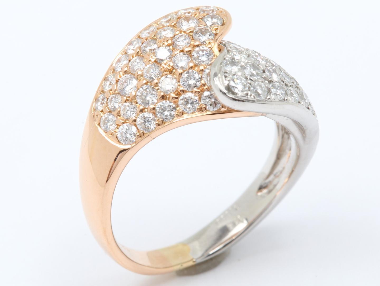 【中古】【送料無料】ジュエリー ダイヤモンド リング 指輪 レディース PT900 プラチナ x K18PG 750 ピンクゴールド x ダイヤモンド(1.35ct)   JEWELRY リング美品 ブランドオフ 美品 BRANDOFF ボーナス
