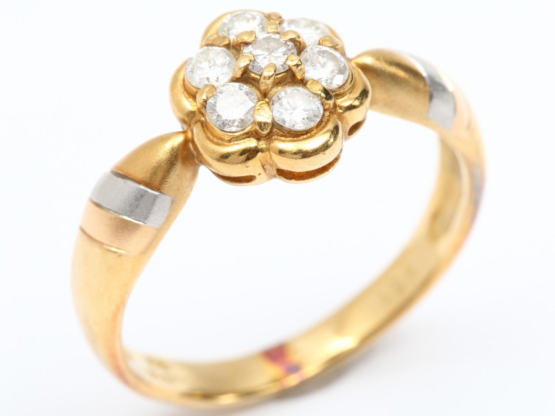 【中古】ジュエリー ダイヤモンド リング 指輪 レディース K18YG(750) イエローゴールド x ダイヤモンド(0.33ct)   JEWELRY リング美品 ブランドオフ 美品 BRANDOFF ボーナス