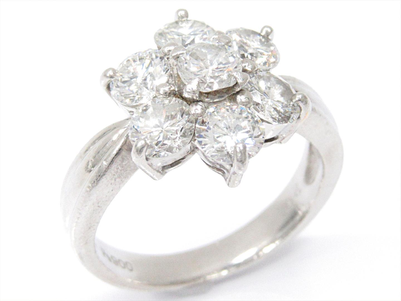 【中古】【送料無料】ジュエリー ダイヤモンドリング 指輪 レディース PT900 プラチナxダイヤモンド(2.00ct) | JEWELRY リング美品 ブランドオフ 美品 BRANDOFF ボーナス