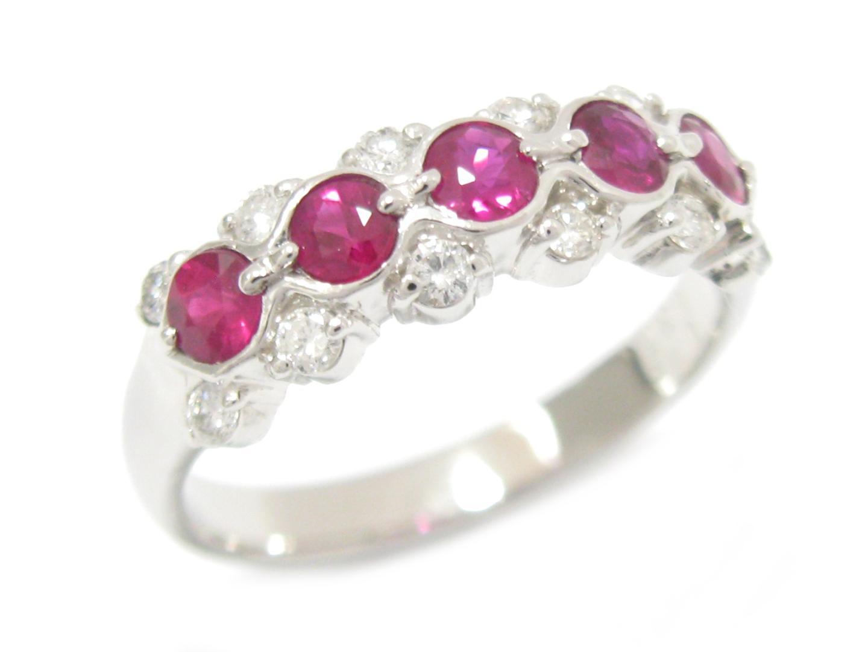 【中古】【送料無料】ジュエリー ルビー リング 指輪 レディース PT900 プラチナ x ルビー (0.75ct) x ダイヤモンド (0.30ct) | JEWELRY リング美品 ブランドオフ 美品 BRANDOFF ボーナス