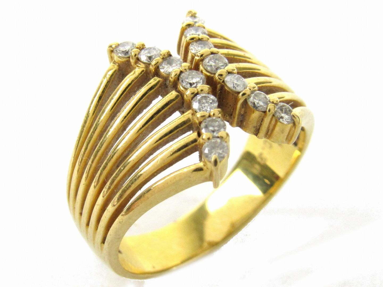 【中古】【送料無料】ジュエリー ダイヤモンド リング 指輪 レディース K18YG(750) イエローゴールドxダイヤモンド0.30ct | JEWELRY リング 美品 ブランドオフ BRANDOFF