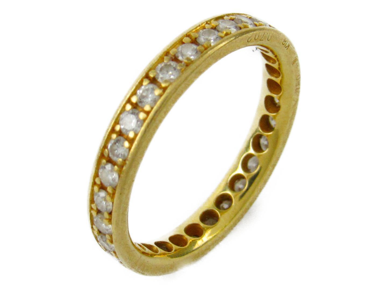 【中古】【送料無料】ジュエリー エタニティリング レディース K18YG(750) イエローゴールドxダイヤモンド0.702ct | JEWELRY リング 美品 ブランドオフ BRANDOFF