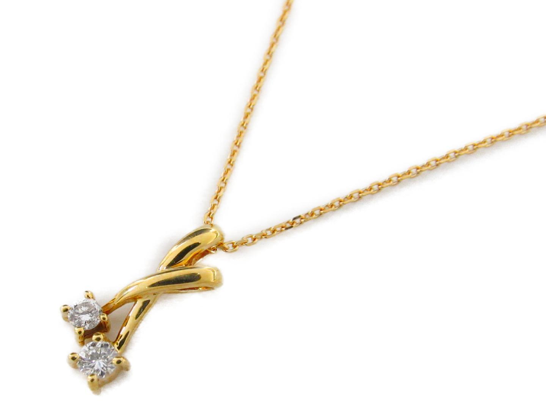 【中古】ジュエリー ダイヤモンド ネックレス レディース K18YG(750) イエローゴールドxダイヤモンド0.10ct | JEWELRY ネックレス 美品 ブランドオフ BRANDOFF