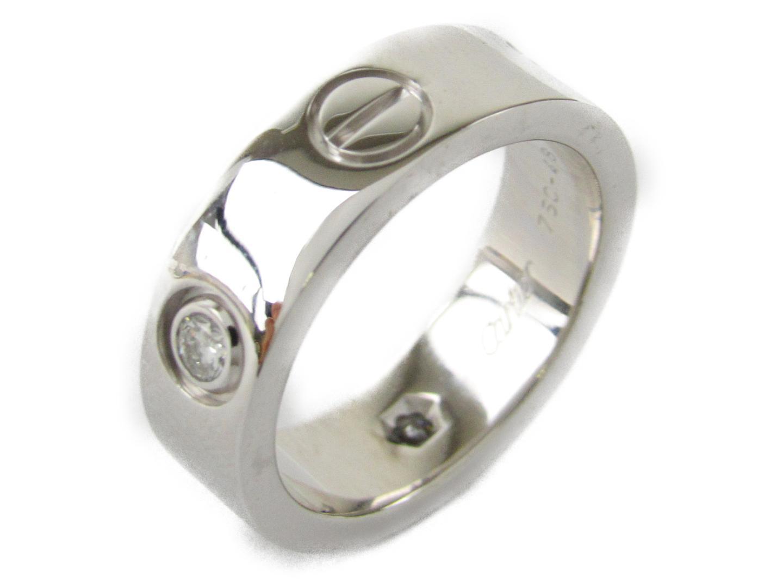 【中古】【送料無料】カルティエ ラブリング 3Pダイヤモンド 指輪 K18WG(750) ホワイトゴールドxダイヤモンド   Cartier リング ブランドジュエリー ジュエリー メンズ レディース 美品 ブランド ブランドオフ BRANDOFF