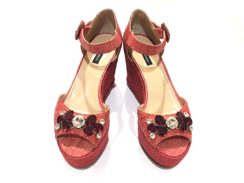 【中古】ドルチェ&ガッバーナ ミュークレ サンダル 靴 レディース レザー | DOLCE & GABBANA くつ 靴 ブランド ブランドオフ BRANDOFF