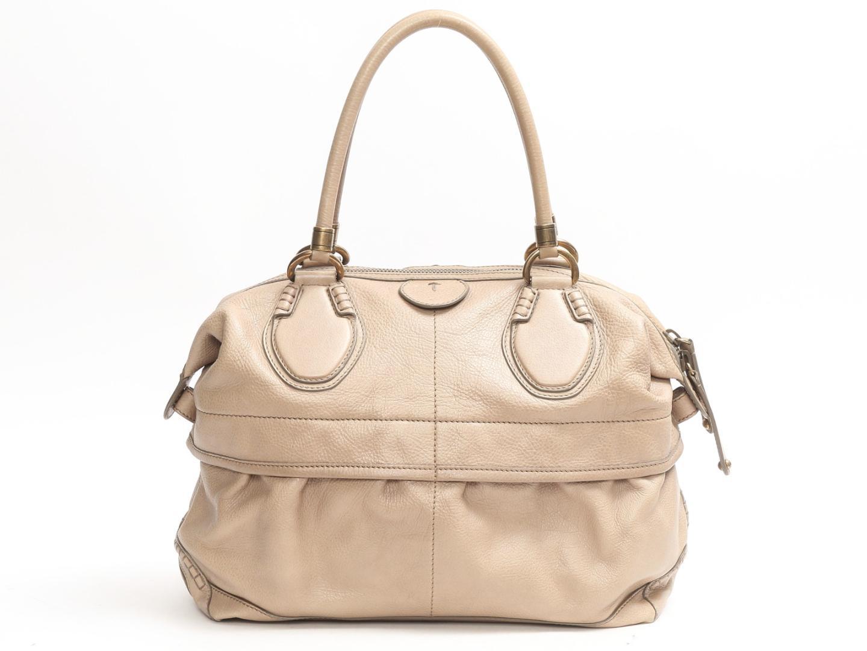 【中古】トッズ ショルダーバッグ レディース レザー ベージュ ( TT82 ) | TOD'S ショルダー 肩掛け バッグ バック BAG 鞄 カバン ブランドバッグ ブランド ブランドオフ BRANDOFF