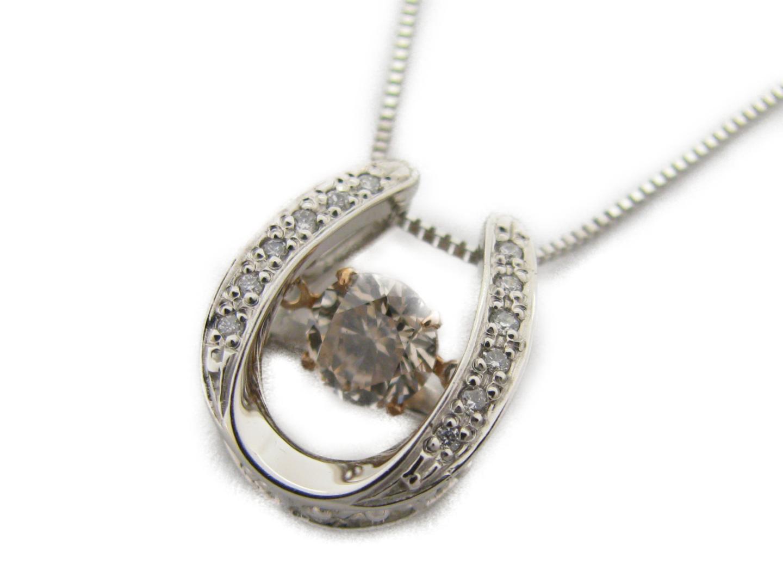 【中古】【送料無料】ジュエリー ダイヤモンドネックレス レディース PT900 プラチナ×PT850 プラチナ×K18×ダイヤモンド0.709ct/0.06ct   JEWELRY ネックレス 美品 ブランドオフ BRANDOFF