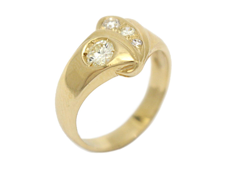 【中古】【送料無料】ジュエリー ダイヤモンド リング 指輪 レディース K18YG(750) イエローゴールド×ダイヤモンド(石目なし) | JEWELRY リング 美品 ブランドオフ BRANDOFF