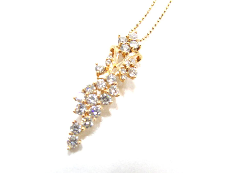 【中古】【送料無料】ジュエリー ダイヤモンド ネックレス レディース K18PG(750) ピンクゴールド×ダイヤモンド(1.00ct) | JEWELRY ネックレス 美品 ブランドオフ BRANDOFF