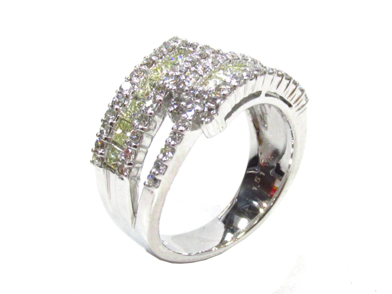 【中古】【送料無料】ジュエリー ダイヤモンド リング 指輪 レディース K18WG(750) ホワイトゴールド×ダイヤモンド(1.51ct) | JEWELRY リング 美品 ブランドオフ BRANDOFF