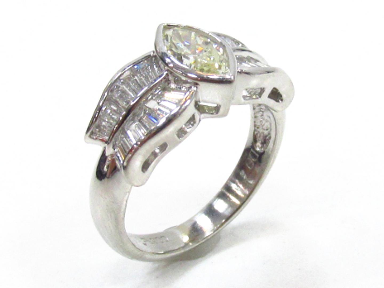 【中古】【送料無料】ジュエリー ダイヤモンド リング 指輪 レディース PT900 プラチナ×ダイヤモンド(0.65/0.76ct) | JEWELRY リング 美品 ブランドオフ BRANDOFF