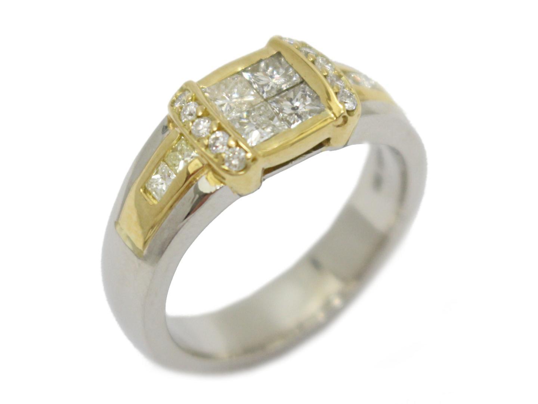 【中古】【送料無料】ジュエリー ダイヤモンド リング 指輪 PT900 プラチナ×K18YG(750)イエローゴールド×ダイヤモンド(1.27ct) | JEWELRY リング メンズ レディース 美品 ブランドオフ BRANDOFF