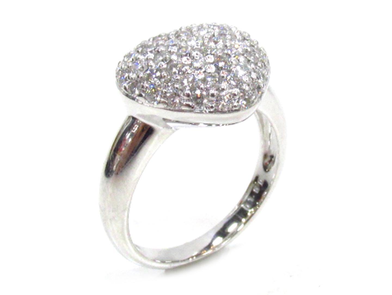 【中古】【送料無料】ジュエリー ダイヤモンド リング 指輪 レディース K18WG(750) ホワイトゴールド×ダイヤモンド(1.00ct) | JEWELRY リング 美品 ブランドオフ BRANDOFF