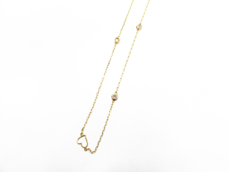 【中古】【送料無料】ジュエリー ダイヤモンド ネックレス レディース K18YG(750) イエローゴールド×ダイヤモンド(0.71ct)   JEWELRY ネックレス 美品 ブランドオフ BRANDOFF