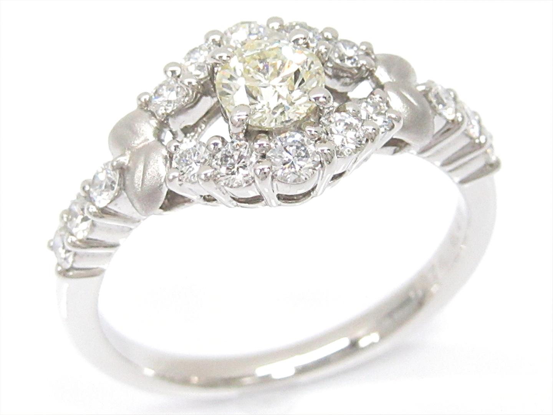 【中古】【送料無料】ジュエリー ダイヤモンドリング 指輪 レディース PT900 プラチナxダイヤモンド(0.376/0.48ct) | JEWELRY リング 美品 ブランドオフ BRANDOFF