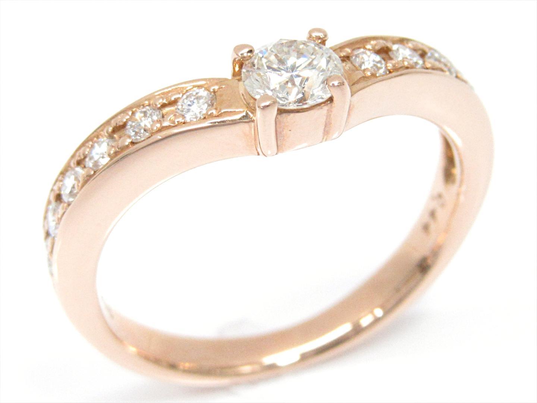 【中古】【送料無料】ジュエリー ダイヤモンドリング 指輪 レディース K18PG(750) ピンクゴールドxダイヤモンド(0.44ct) | JEWELRY リング 美品 ブランドオフ BRANDOFF