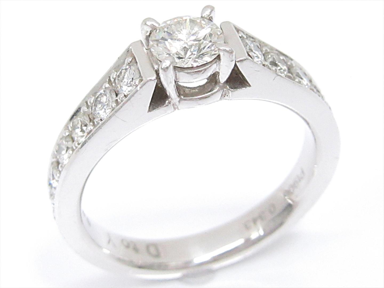 【中古】【送料無料】ジュエリー ダイヤモンドリング 指輪 レディース PT900 プラチナxダイヤモンド(0.343/0.422ct) | JEWELRY リング 美品 ブランドオフ BRANDOFF
