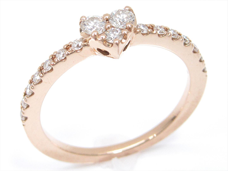 【中古】ポンテヴェキオ ダイヤモンドリング 指輪 レディース K18PG(750) ピンクゴールドxダイヤモンド(0.18ct) | Ponte Vecchio リング ブランドジュエリー ジュエリー 美品 ブランド ブランドオフ BRANDOFF