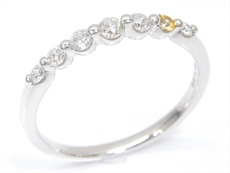 【中古】【送料無料】ジュエリー ダイヤモンドリング 指輪 レディース K18WG(750) ホワイトゴールドxダイヤモンド(0.30ct) | JEWELRY リング 美品 ブランドオフ BRANDOFF