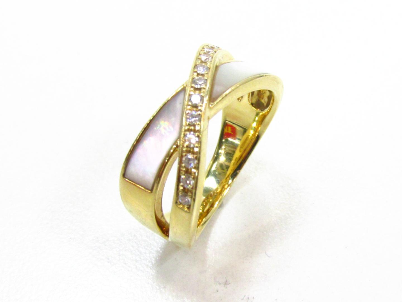 【中古】【送料無料】タサキ ダイヤモンド リング 指輪 レディース K18YG(750) イエローゴールド×ダイヤモンド(0.11ct) | TASAKI リング ブランドジュエリー ジュエリー 美品 ブランド ブランドオフ BRANDOFF