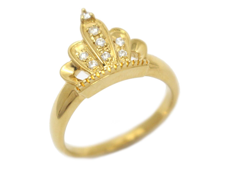 【中古】【送料無料】ジュエリー POLA ポーラ ダイヤモンド リング 指輪 レディース K18YG(750) イエローゴールド×ダイヤモンド(0.10ct) | JEWELRY リング 美品 ブランドオフ BRANDOFF