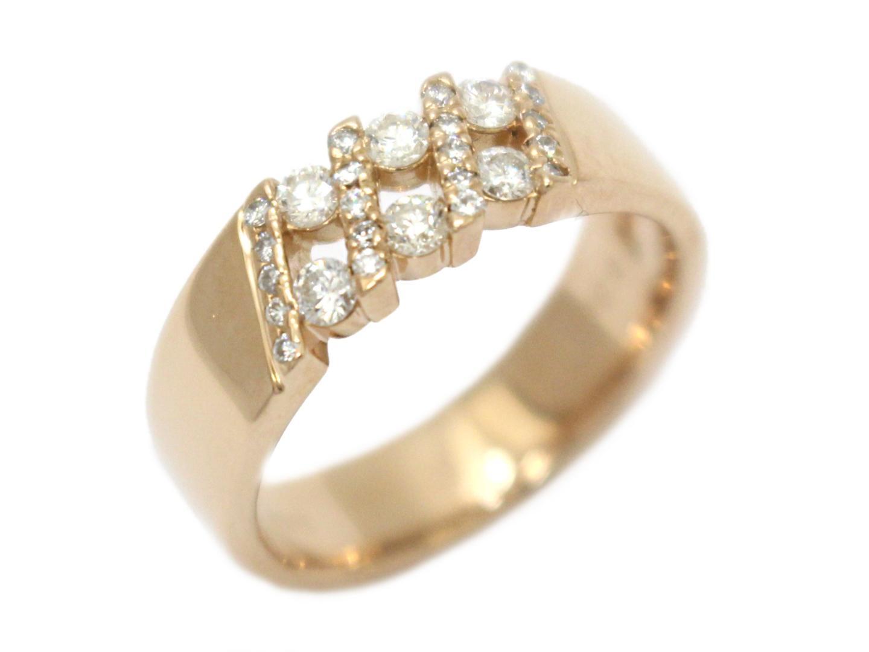 【中古】【送料無料】ジュエリー ダイヤモンド リング 指輪 レディース K18PG(750) ピンクゴールド×ダイヤモンド(0.30ct) | JEWELRY リング 美品 ブランドオフ BRANDOFF