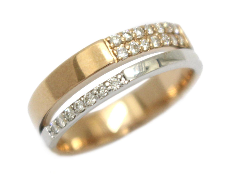 【中古】【送料無料】ジュエリー ダイヤモンド リング 指輪 レディース K18PG(750) ピンクゴールド×K18WG(750)ホワイトゴールド×ダイヤモンド(0.21ct) | JEWELRY リング 美品 ブランドオフ BRANDOFF