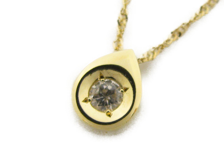 【中古】ジュエリー ダイヤモンドネックレス レディース K18YG(750) イエローゴールド×ダイヤモンド0.07ct | JEWELRY ネックレス 美品 ブランドオフ BRANDOFF
