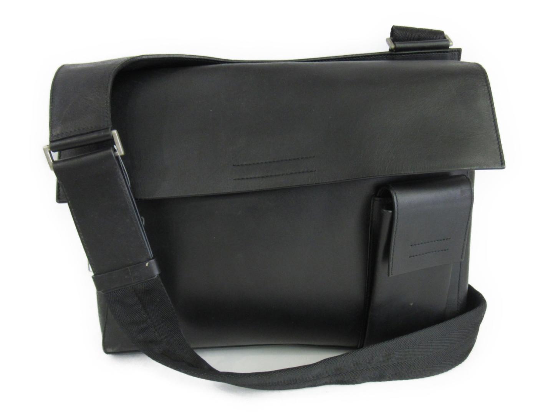 【中古】プラダ ショルダーバッグ メンズ レザー ブラック | PRADA ショルダー 肩掛け バッグ バック BAG 鞄 カバン ブランドバッグ 美品 ブランド ブランドオフ BRANDOFF