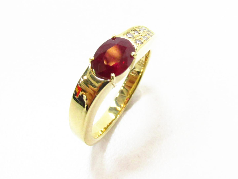 【中古】【送料無料】ジュエリー ルビー ダイヤモンドリング 指輪 レディース K18YG(750) イエローゴールド×ルビー(0.92)×ダイヤモンド(0.07) | JEWELRY リング 美品 ブランドオフ BRANDOFF