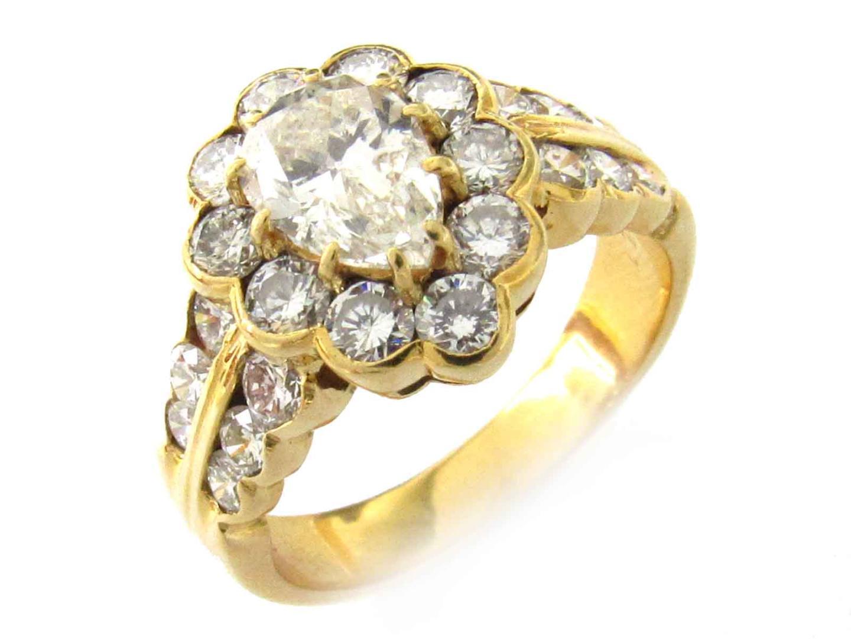 【中古】【送料無料】ジュエリー ダイヤモンド リング 指輪 レディース K18YG(750) イエローゴールド x ダイヤモンド(1.149ct/1.61ct)   JEWELRY リング 美品 ブランドオフ BRANDOFF