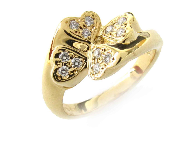 【中古】【送料無料】ミキモト ダイヤモンド リング 指輪 レディース K18YG(750) イエローゴールド x ダイヤモンド(0.100ct) | MIKIMOTO リング ブランドジュエリー ジュエリー 美品 ブランド ブランドオフ BRANDOFF
