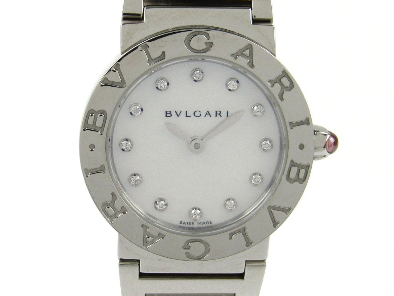 【中古】【送料無料】ブルガリ ブルガリ ブルガリ 12Pダイヤモンド 腕時計 ウォッチ レディース ステンレススチール(SS)xダイヤモンド (BBL26S) | BVLGARI クオーツ WATCH 時計 美品 ブランド ブランドオフ BRANDOFF