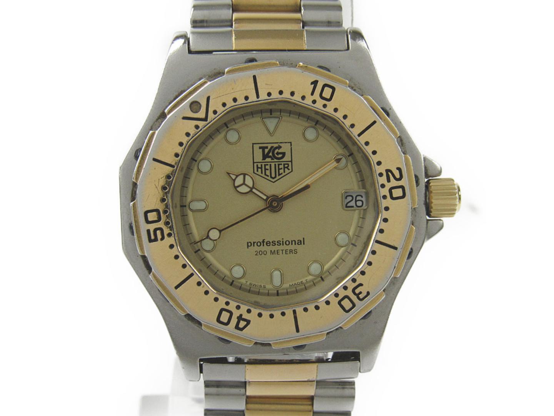 【中古】【送料無料】タグ・ホイヤー プロフェッショナル 腕時計 ウォッチ メンズ ステンレススチール(SS)xGP(ゴールドメッキ) (935.413) | TAG HEUER クオーツ WATCH 時計 美品 ブランド ブランドオフ BRANDOFF
