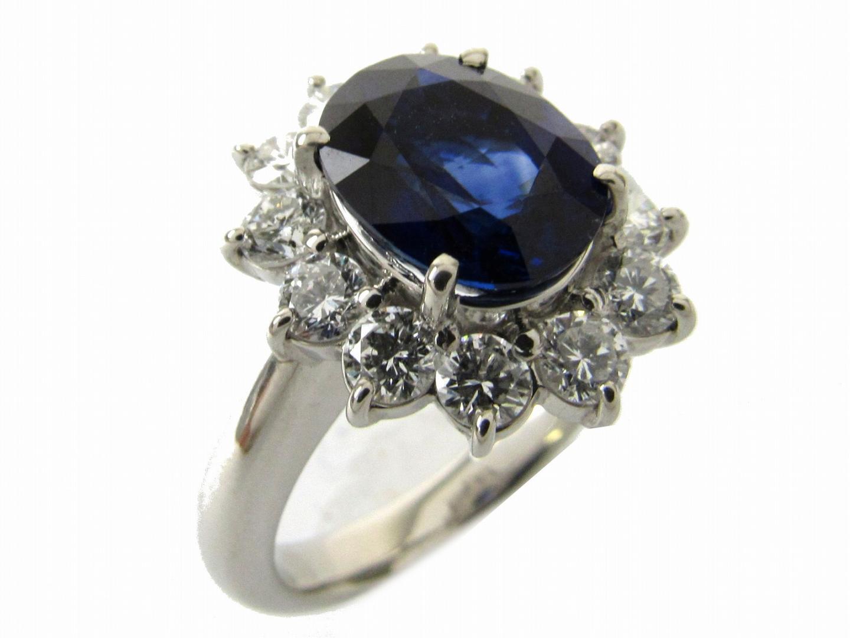 【中古】【送料無料】ジュエリー ROYALBLUEサファイヤ ダイヤモンド リング 指輪 レディース PT900 プラチナxサファイア3.25/ ダイヤモンド1.12ct | JEWELRY リング 美品 ブランドオフ BRANDOFF