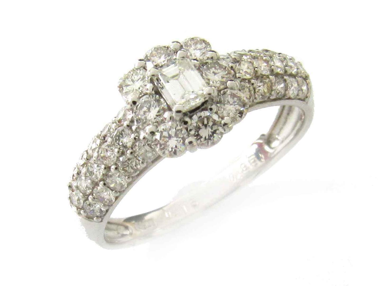 【中古】【送料無料】ジュエリー ダイヤモンド リング 指輪 レディース PT900 プラチナ x ダイヤモンド(0.15ct/0.85ct)   JEWELRY リング 美品 ブランドオフ BRANDOFF