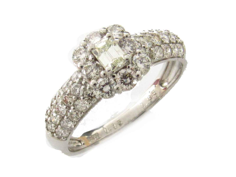 【中古】【送料無料】ジュエリー ダイヤモンド リング 指輪 レディース PT900 プラチナ x ダイヤモンド(0.15ct/0.86ct) | JEWELRY リング 美品 ブランドオフ BRANDOFF