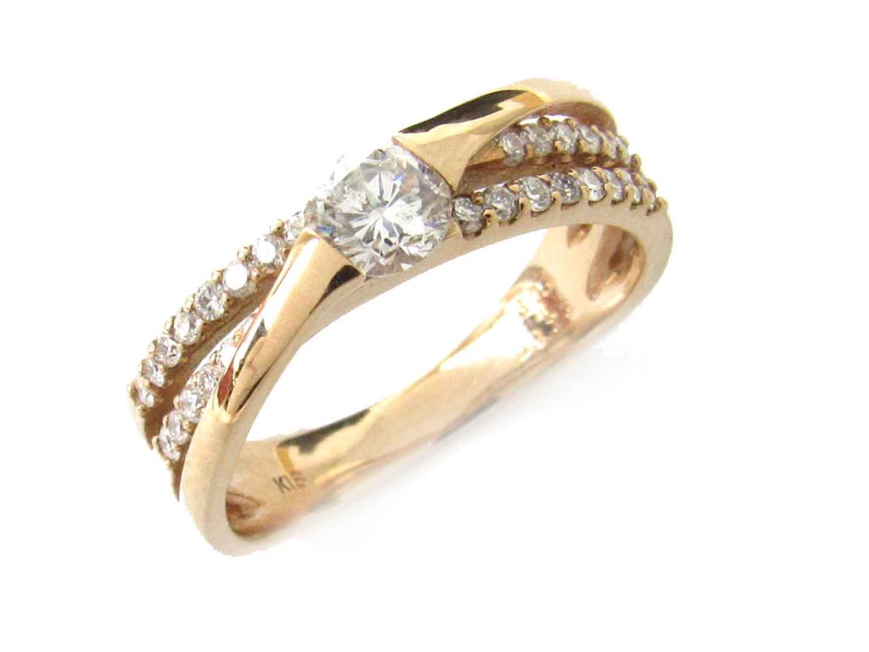 【中古】【送料無料】ジュエリー ダイヤモンド リング 指輪 レディース K18PG(750) ピンクゴールド x ダイヤモンド(0.305ct/0.23ct) | JEWELRY リング 美品 ブランドオフ BRANDOFF