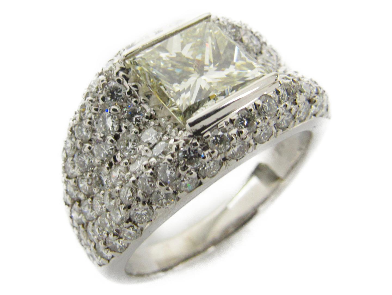【中古】【送料無料】ジュエリー Dリングプリンセス ダイヤモンド リング 指輪 PT900 プラチナxダイヤモンド2.338/7.840ct | JEWELRY リング メンズ レディース 美品 ブランドオフ BRANDOFF