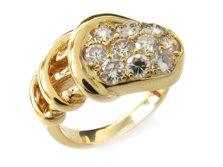 【中古】【送料無料】ジュエリー ダイヤモンド リング 指輪 レディース K18YG(750) イエローゴールド x ダイヤモンド(1.00ct) | JEWELRY リング 美品 ブランドオフ BRANDOFF