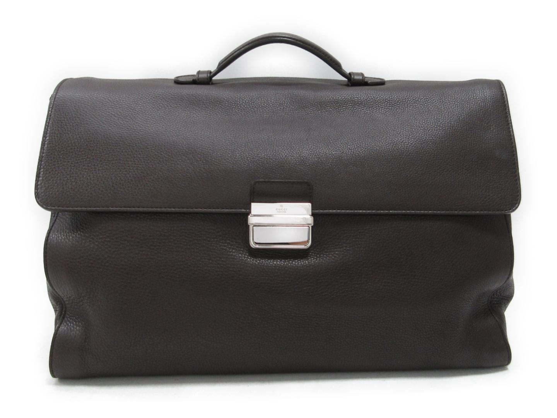 【中古】【送料無料】グッチ ビジネスバッグ レザー ブラウン (296135) | GUCCI ビジネスバッグ ハンドバッグ ハンド バッグ バック BAG 鞄 カバン ブランドバッグ メンズ レディース ブランド ブランドオフ BRANDOFF