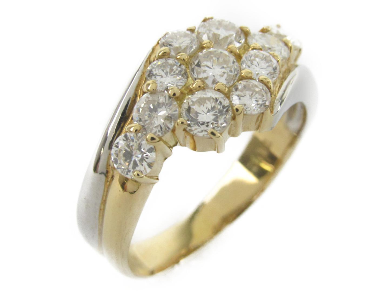 【中古】【送料無料】ジュエリー ダイヤモンド リング 指輪 レディース K18YG(750) イエローゴールドxダイヤモンド1.12ctxpt900(プラチナ) | JEWELRY リング 美品 ブランドオフ BRANDOFF