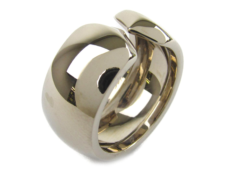 【中古】【送料無料】カルティエ ロゴ リング 指輪 K18WG(750) ホワイトゴールド | Cartier リング ブランドジュエリー ジュエリー メンズ レディース 美品 ブランド ブランドオフ BRANDOFF