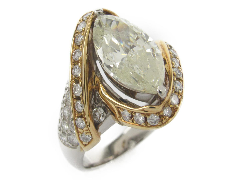 【中古】【送料無料】ジュエリー ダイヤモンド リング 指輪 レディース K18YG(750) イエローゴールドxpt900(プラチナ)xダイヤモンド3.392/1.26ct | JEWELRY リング 美品 ブランドオフ BRANDOFF