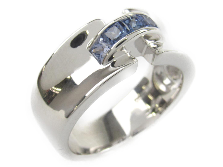 【中古】【送料無料】ジュネ サファイア リング 指輪 レディース K18WG(750) ホワイトゴールドxサファイア0.48ct | JEWELRY リング 美品 ブランドオフ BRANDOFF